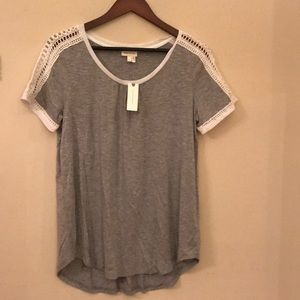 Anthropologie NWT Gray T-shirt